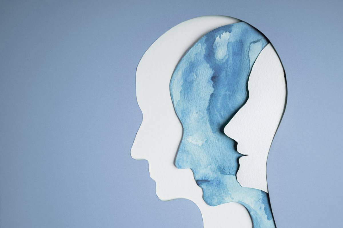 Concept image of bipolar disorder.